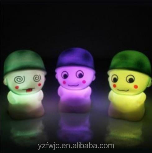 Novelty PVC Plastic Baby Bedroom Lamps Night Light Sleep Kids Lamp Bulb Nightlight for Children