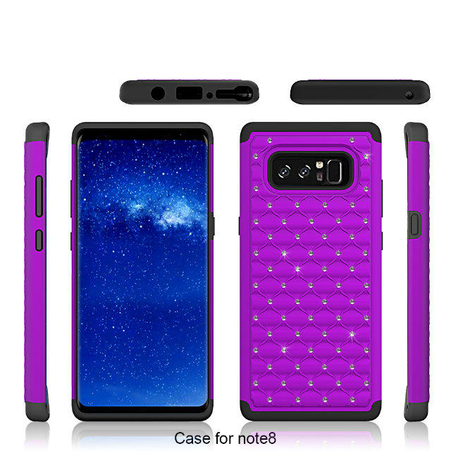 Wholesale silicone sparkling cell phone case for Samsung Note 8 cover