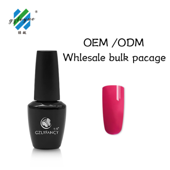 hot sale UV/LED GEL soak off nail gel polish OEM uv gel polish pink color China supplies