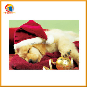 2015 christmas greeting card 3d postcard for festival use