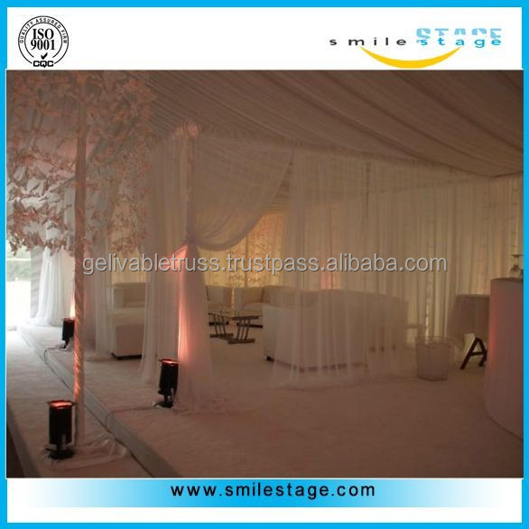 decoration for wedding games with high quality pipes and drapes