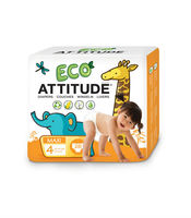 Attitude Eco-Friendly Diapers Size 4 (10-17kg) 26 wipes