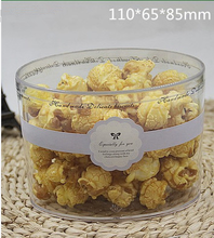 Round shape PS plastic high quality popcorn box dim sum container box for shop