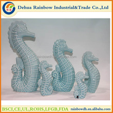 Wholesale sea decoration ceramic sea horse fish for home decoration