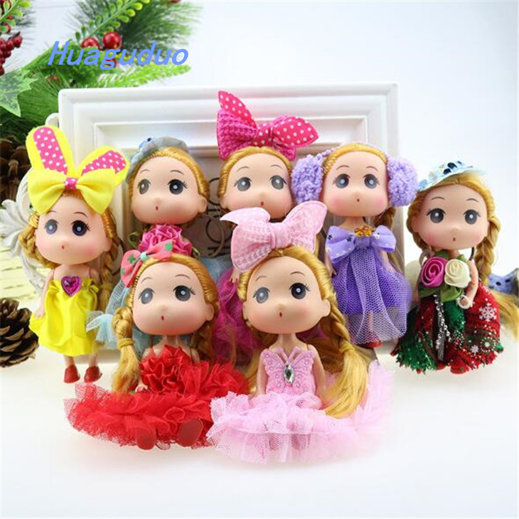Best Selling In Ebay New Chic Fashion Royalty Wedding Doll ECO Plastic Mini Baby Keychain Doll For Girls Birthday Gift