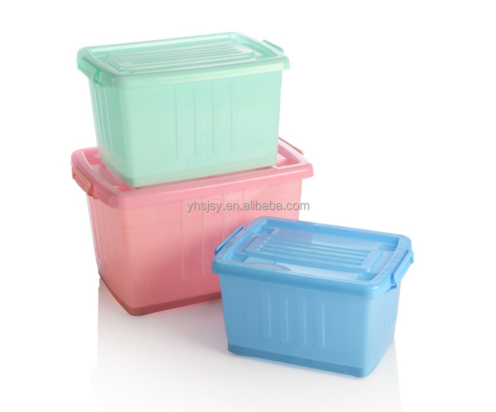 Wholesale durable multi purpose organizer 5L-170L transparent stackable plastic box storage