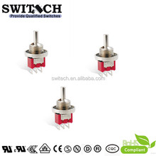 3A SPDT Momentary Toggle Switches with 3 Pins PCB Termianl Supplier Off On On Toggle Switch