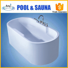 high quality round solid surface acrylic freestanding bathtub for spa bath