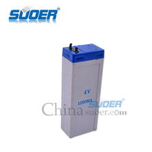 Suoer Factory Price Storage Battery 4V 1.2A Solar Power Storage Battery