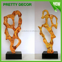 Modern Clear Resin Sculpture Statue Crafts for Indoor Decoration