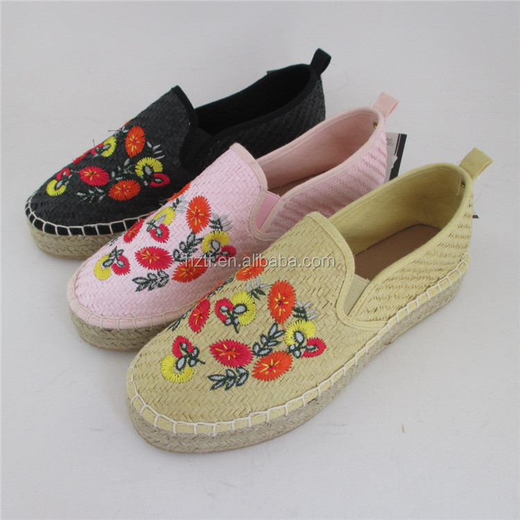 2017 new style half-naked wholesale china espadrilles heel shoe