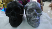new style fashionable glitter Halloween skull for decoration