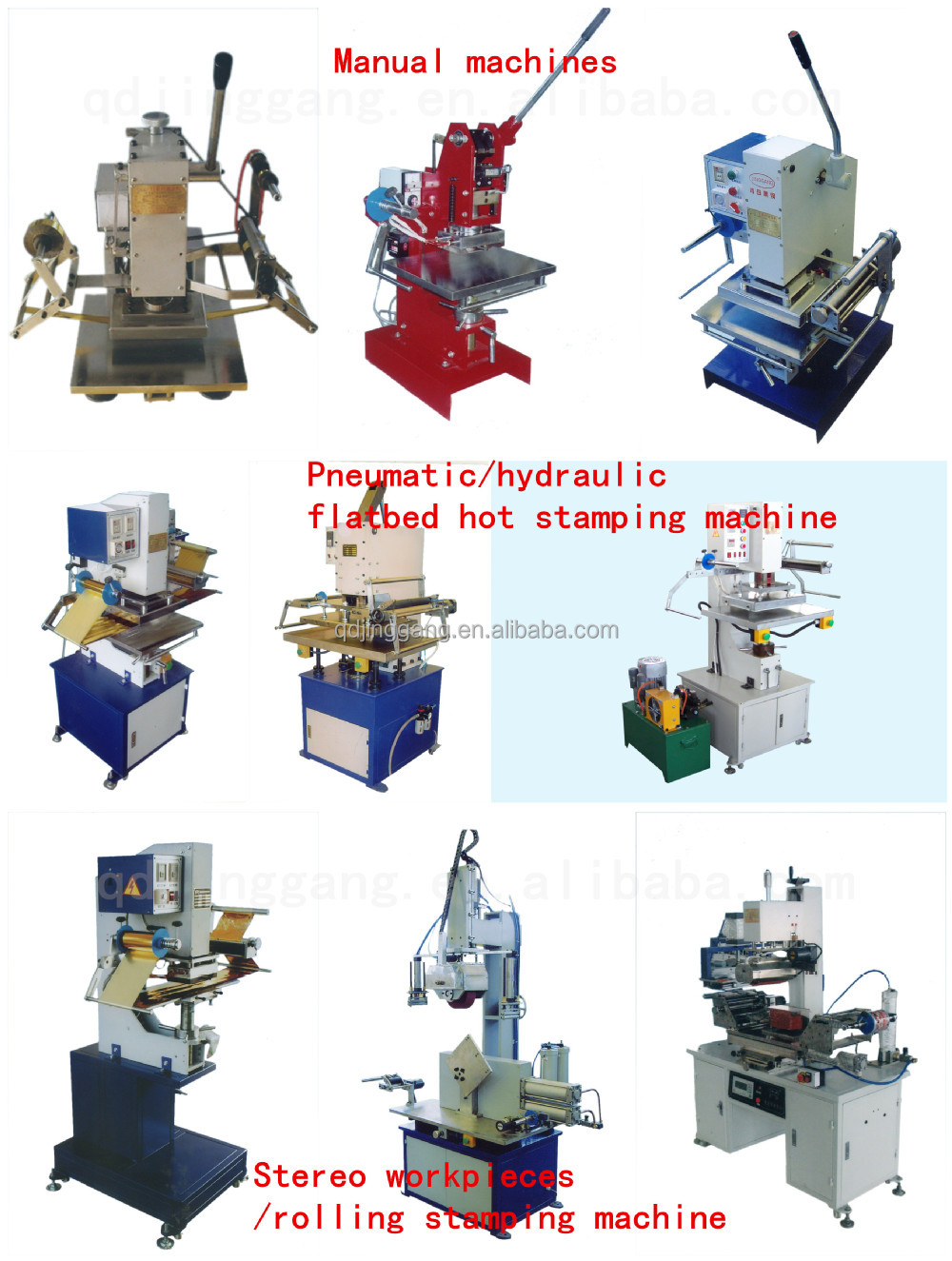 TJ-69 Hot foil stamping printing machine for Plastic Shopping Basket/Dustbin/ Bottle Tray