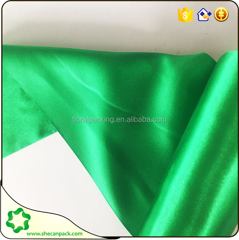 SHE CAN PACK 50D*75D polyester colorful satin material in roll