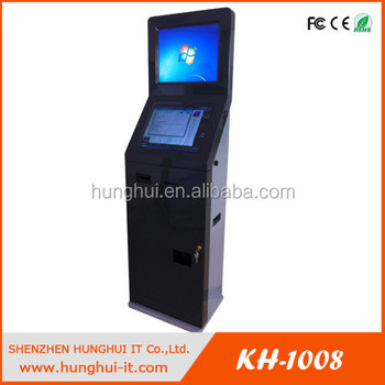 Floor Stand 19'' Touch Screen Kiosk, Coin Operated 19'' Touch Screen Kiosk With MEI Coin Changer