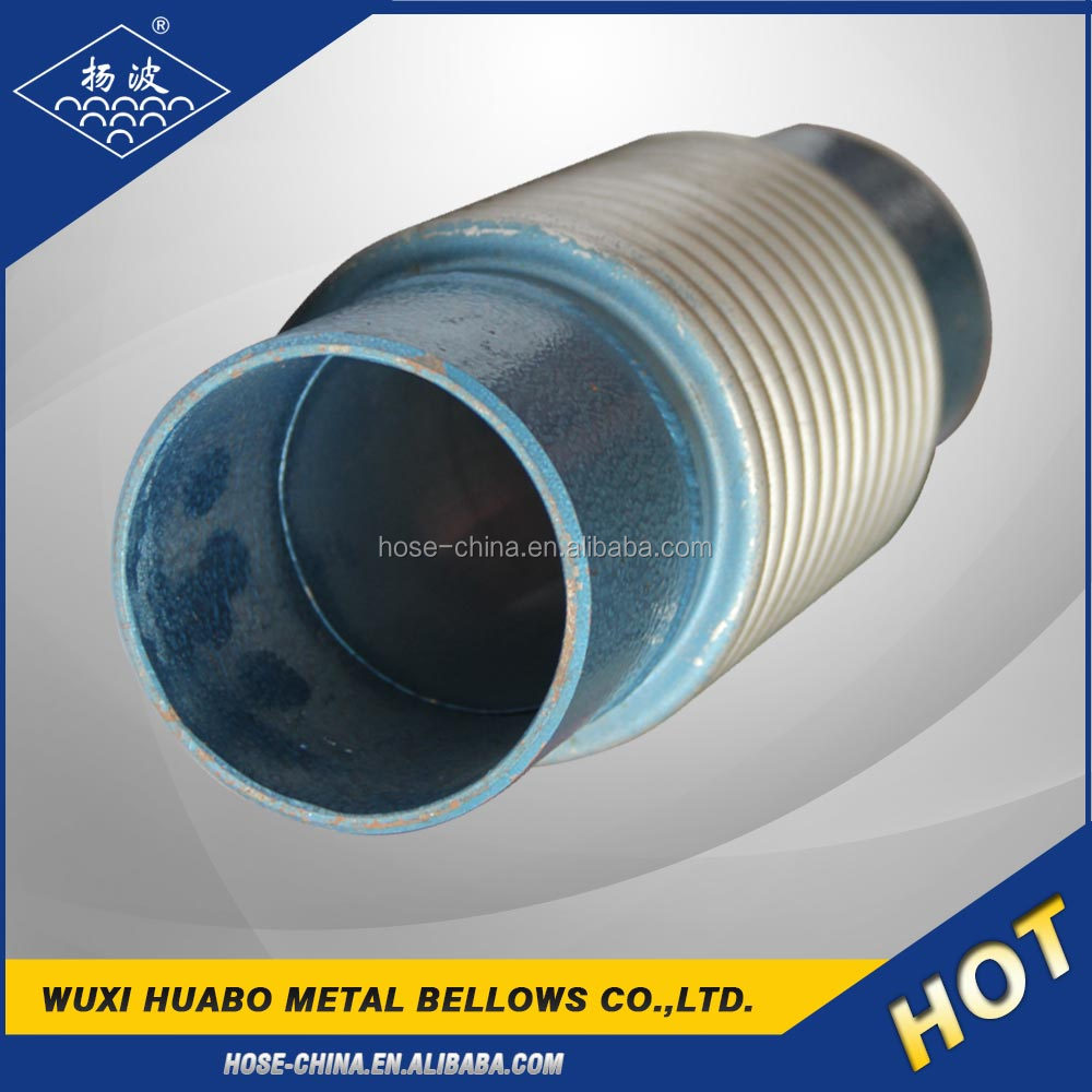 Welded sleeve type metal expansion joint corrugated exhaust bellow pipe