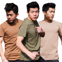Outdoor 100% cotton T-shirt Army training suit Tactical vest Physical training uniform