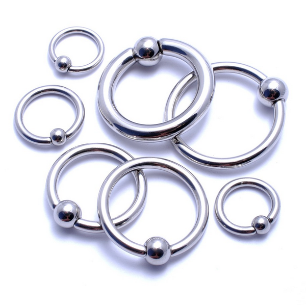 BCR Piercing High Polish ASTM F136 Titanium Ball Closure Rings