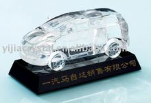 Classic Crystal Glass Car Model For Souvenir