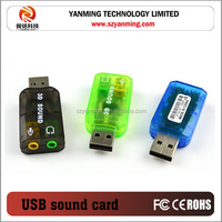 External 3D 5.1 Sound Card USB 2.0 Audio Adapter Sound Card for PC
