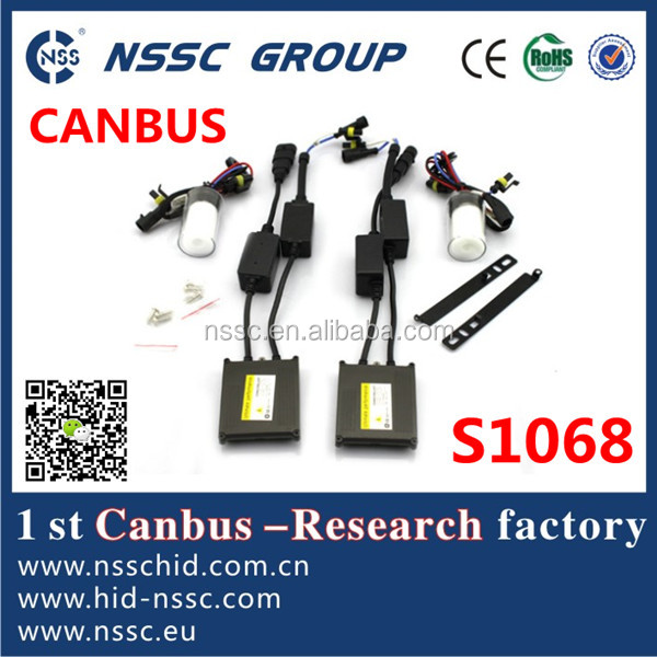 NSSC tuning car accessories 35w canbus hid kit xenon h1 h4 h7 h9 6000k