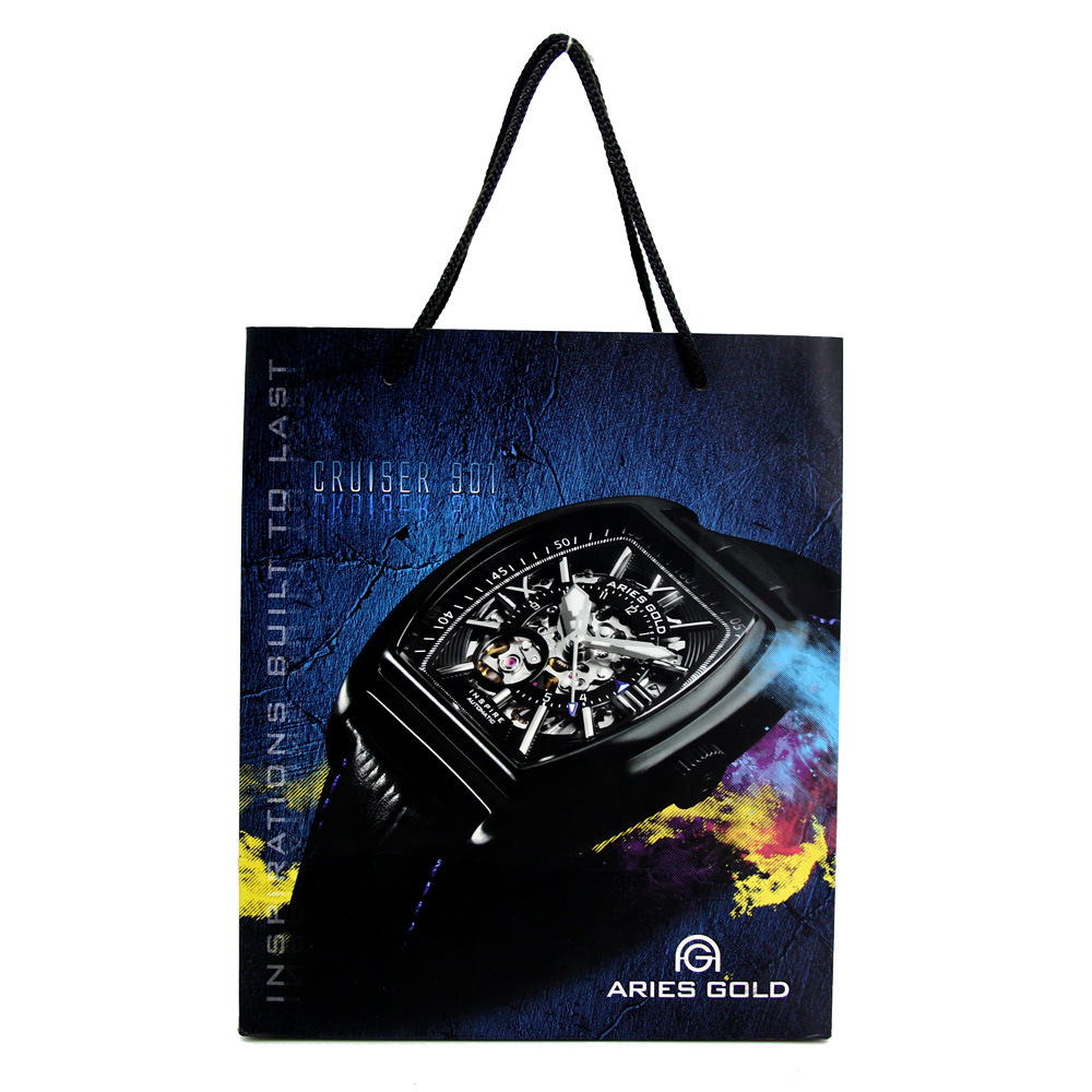 luxury paper watch packing bag with PP rope