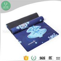 Microfiber and rubber material custom size sublimation printed yoga mats