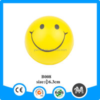 Top selling pu smiley stress ball for funny