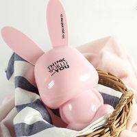 promotion kids gift money box cute rabbit plastic piggy bank
