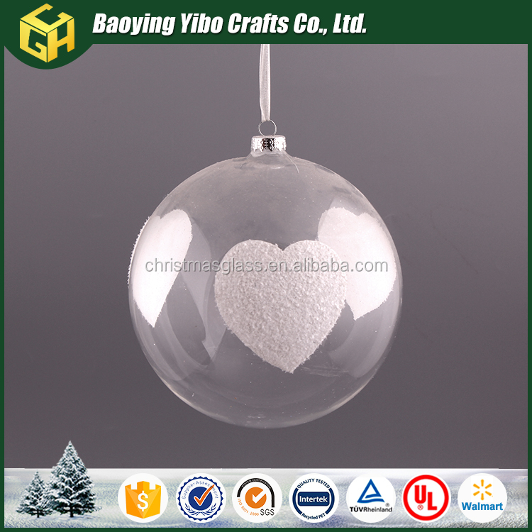 Wholesale 10cm clear glass christmas ball ornament