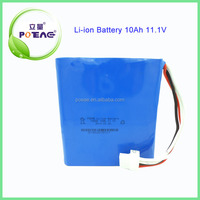 High capacity 12V 10000mah li-ion 18650 battery pack