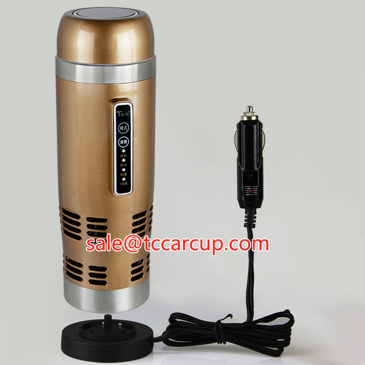 12v car stainless steel pot/mug/cup HOT and COOL travel thermos