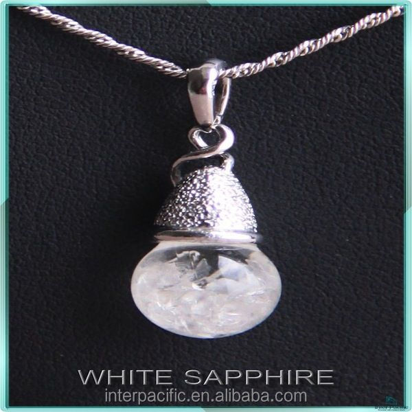 925 silver sterling jewelry floating white sapphire necklaces