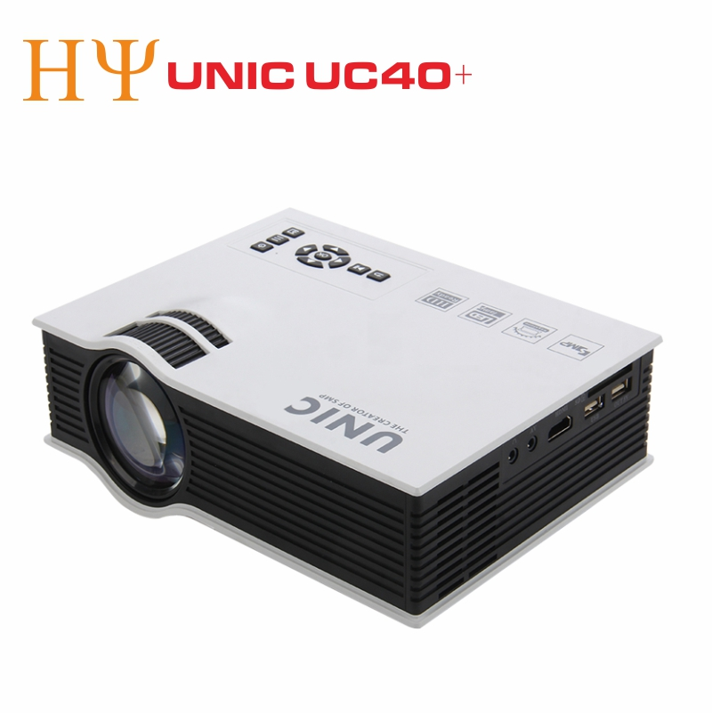 UNIC UC40+ LED Projector HD 800lms 3D Mini Pico Portable Projector For Home Theater UNIC UC40+