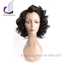 synthetic lace loose curl short curly bob wig