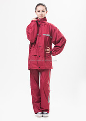 Manufacturer waterproof raincoat rainsuits with sleeves
