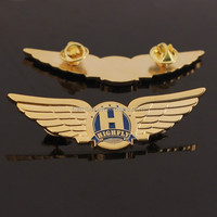 Custom promotion gold plated genesis wing badge