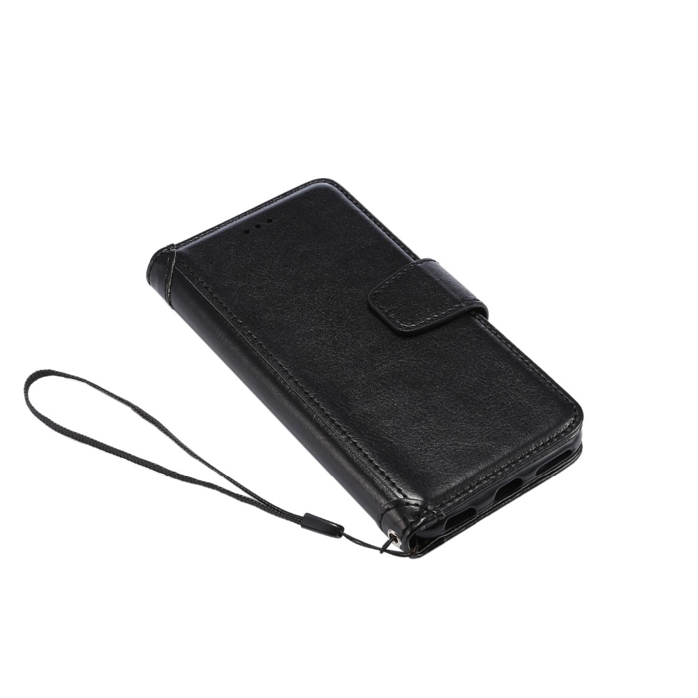 PU leather Case with Stand Feature and Magnetic Closure with Strap For iPhone 5 / 5s / SE / 6 / 6s / 6Plus / 6s Plus / 7 / 7Plus