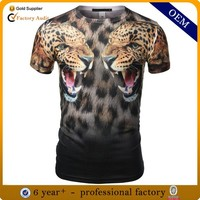 3d t-shirt animal, custom sublimation tshirt, cartoon printed t-shirt