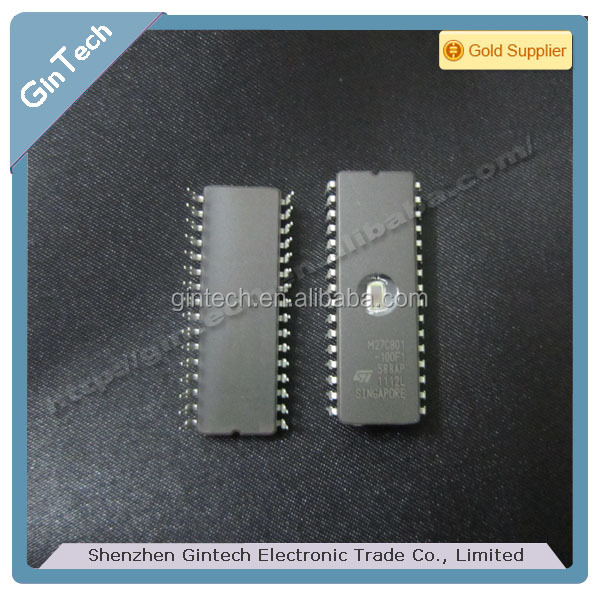 M27C801-100F1 DIP-32, 8 Mbit 1Mb x 8 UV EPROM and OTP EPROM