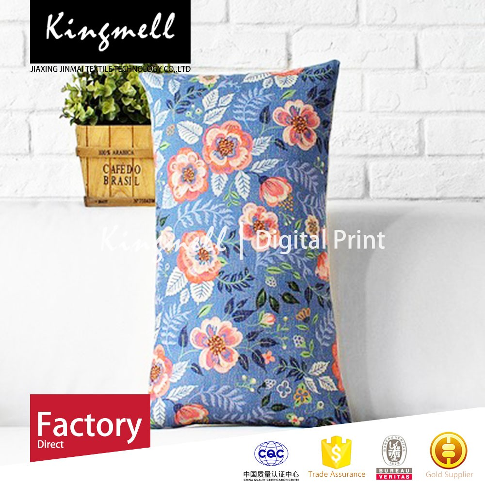 Custom Made High Quality Fresh small floral soft neck and back cushion&home cushion pillow