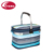 Outdoor Hot 4 Person Picnic Basket with cooler compartment