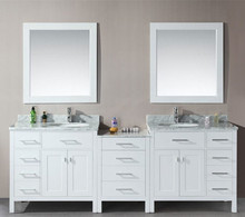 Cut custom size white bathroom vanity cabinet with discount for sale
