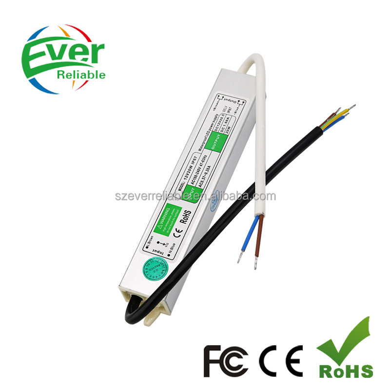 12V 20W Waterproof Constant Voltage LED Driver S-20-12 LED Switching Power Supply