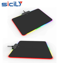 Christmas Gift USB Gaming Mouse Pad ,High Quality RGB Backlit Switch Colorful LED Game Mouse Pad