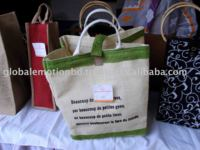 eco friendly natural fiber jute shopping bag
