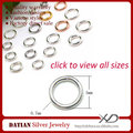 XD P05108 0.7x5mm 925 Sterling Silver Small Jewelry Rings Soldered Jump Ring