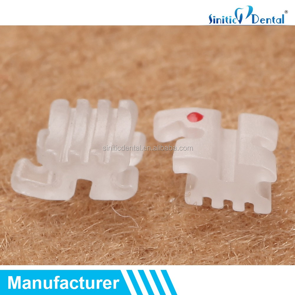 Sinitic Dental orthodontic ceramic bracket invisible clear braces