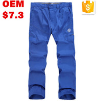 Mens Blue Cotton Drill Work Trousers 300gram for Auto Plants /Car Factory Workers