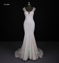 Simple mermaid bride gowns wedding dress sexy fish cut bridal dress